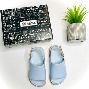 Mini Melissa Mini Beach Slide Sandal in Blue